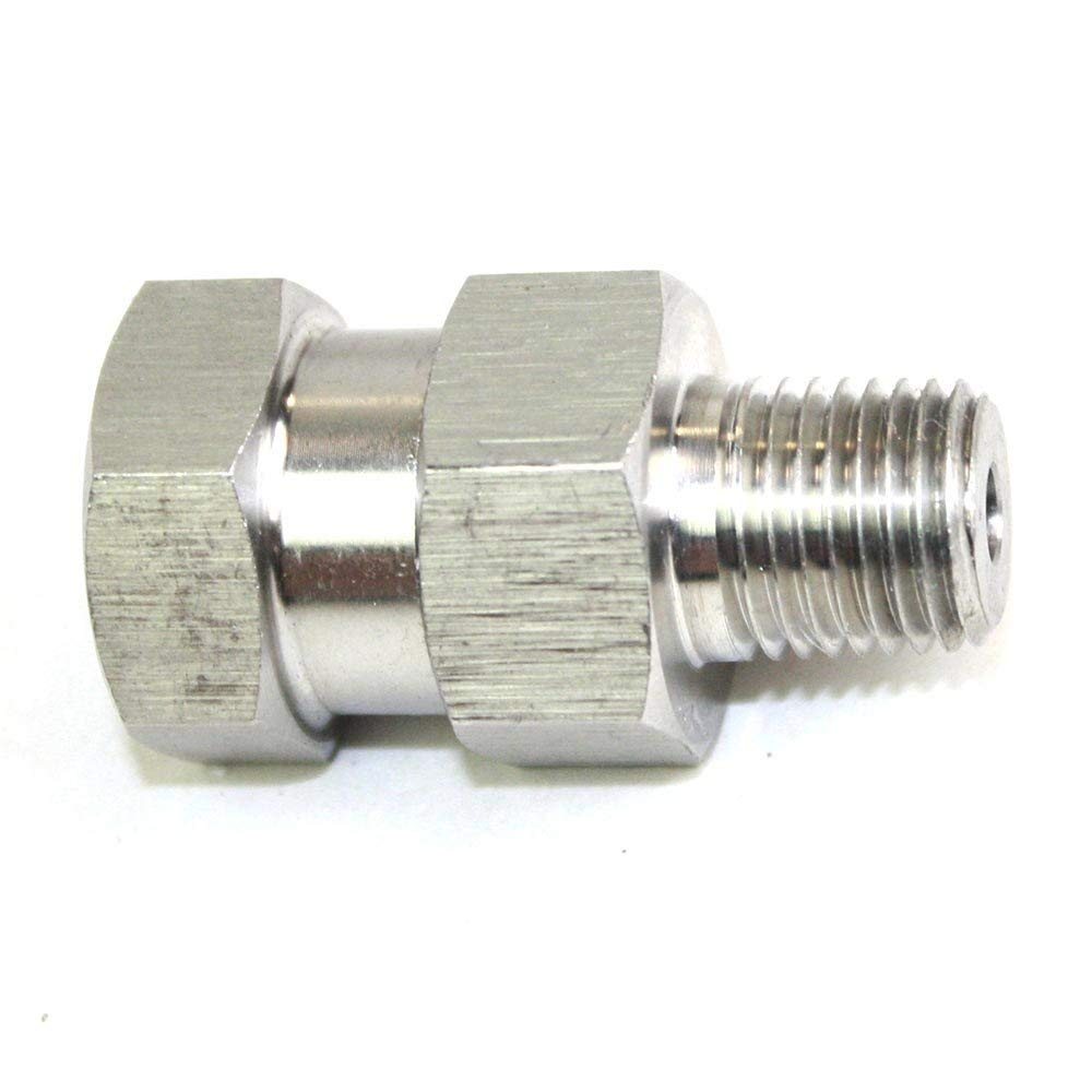 "Interstate Pneumatics PW7165 - 1/4"" MPT x 1/4"" FPT Stainless Steel Swivel fitting - 4000 PSI"