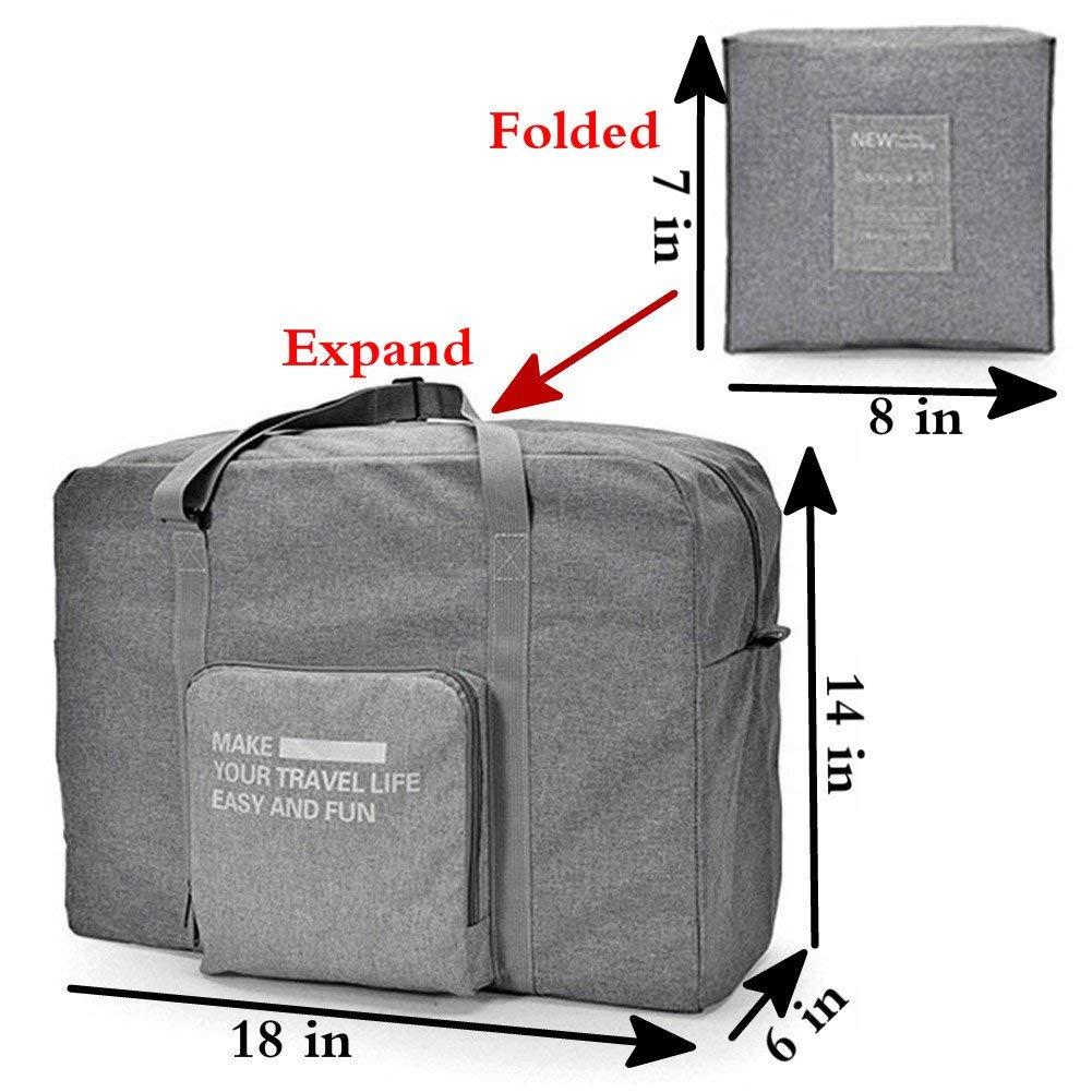 Rocoke Travel Duffel Bag Foldable Lightweight Waterproof Large Capacity Luggage Bag