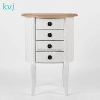 KVJ-7517 white floor standing nordic wood tool cabinet