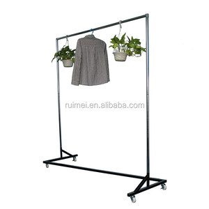 metal hanging clothes drying single pole telescopic clothes rack