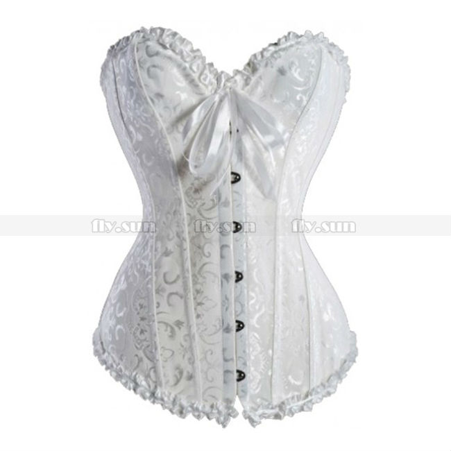 108c6450aa Buy Classic White Floral Overbust Corset Bridal Lace up Bustier Plus Size  XS S M L XL 2XL 3XL 4XL 5XL 6XL in Cheap Price on m.alibaba.com