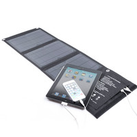 hottest selling on Amazon 15W PET solar panel price low with dual USB controller charge for iphone and Ipad