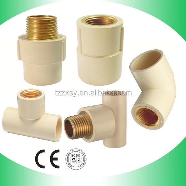 Hot water supply cpvc pvc plastic sanitary pipe fittings for Cpvc hot water