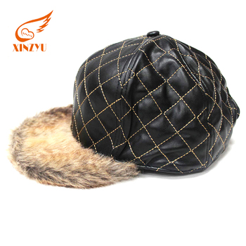 49f54738a71 Oem Custom Bandana Leather Blank Hats Fur Flat Bill Snapback Cap hat ...