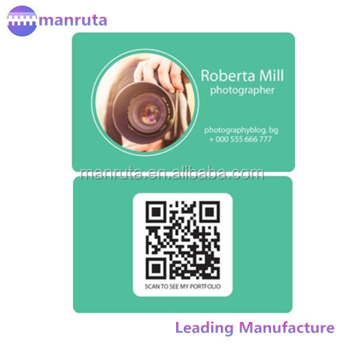 leading manufacture Plastic card with QR code and offset printing