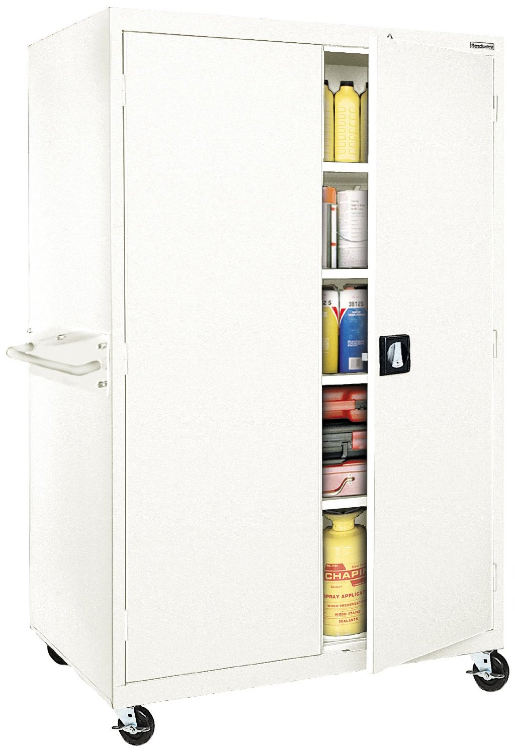 Sandusky Lee TA4R462472-22 Transport Series Mobile Storage Cabinet, White