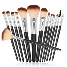 15pcs Synthetic make up brush set private label makeup brushes
