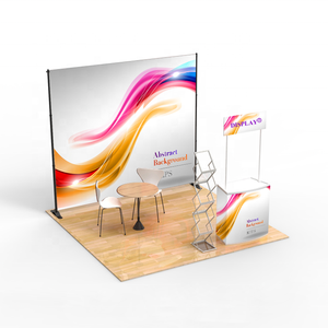 Wholesale modern advertising adjustable trade show backdrop display stand 3x3 exhibition booth design