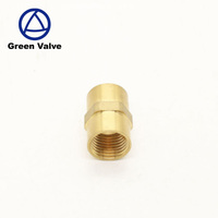 Gutentop Corrugated hot water flexible metal Double Female straight brass pipe fitting