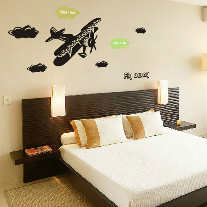 Sleeping Fly Away Cloud Wall Stickers Simple Decal Home Decor For Bedroom CT119