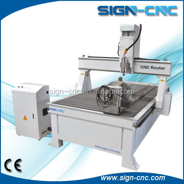 4 axis dsp/PC control 3d wood carving cnc router