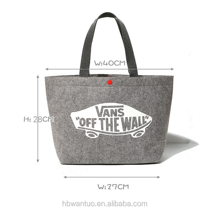 Women Fashion Customized designer women shopping Felt Tote Bag