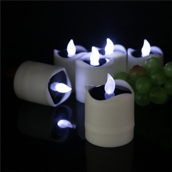 Solar Candle Led Flameless Tealight Candles Outdoor Waterproof Electric Flickering Tea Lights