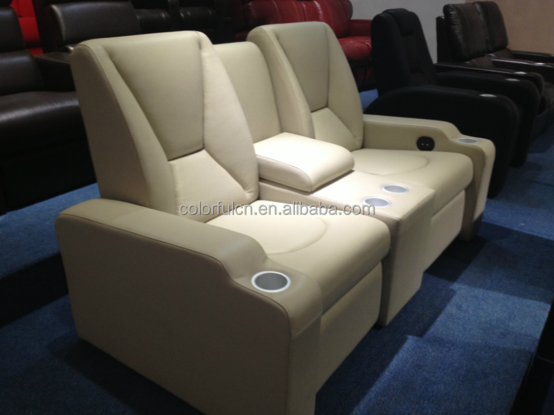 Electric Leather Sofa Recliner For Home Hotel Cinema Theater Chair