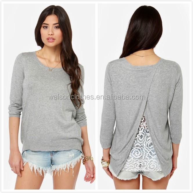 d41364adc96 Women Ladies Long Sleeve Chiffon Peplum Cotton Loose Casual Tops T-Shirt  Blouse
