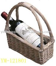 easy-taking wine knitting basket in full wicker for bottle