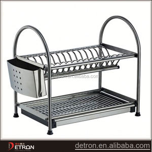 Steel metal table store dish drainer shelf