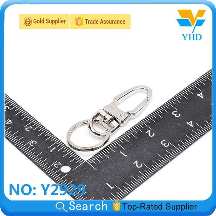 china products metal heart shaped snap hook key rings