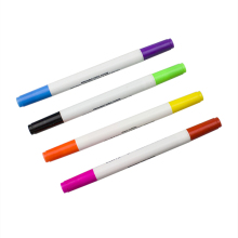 Promotional Assorted Colors Dual Tip Indelible Ink Art Markers Fabric Paint Pens For Body DIY on Shoes,T-shirt,Bags,Etc