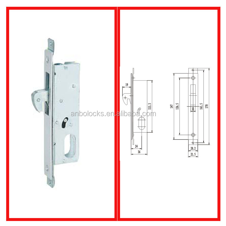 Shanghai Aluminum Zwave Electric Lock For Sliding Door