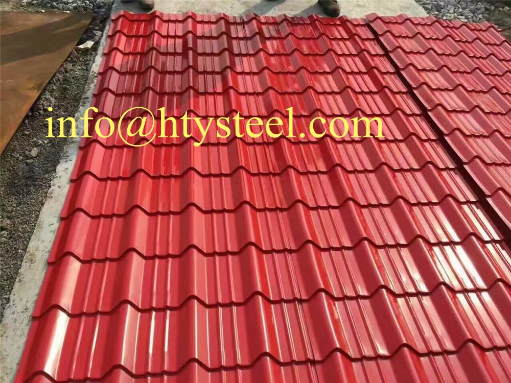 High Quality Color Steelroof Tile Color Roof Philippines