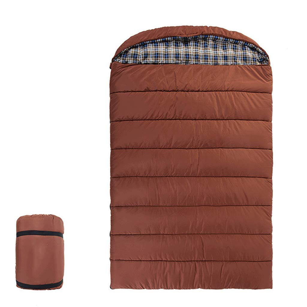 RXF Outdoor Three-Person Family Envelope Sleeping Bag Camping Trip Adult Portable Warm (Color : 1#, Size : (74.80+11.81) 55.11in)