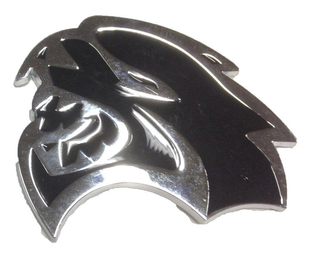 LH Side Hellcat Emblem Direct OEM Fit Replacement for Dodge Mopar 68269896AA / 68269897AA SRT SRT8 LEFT Fender