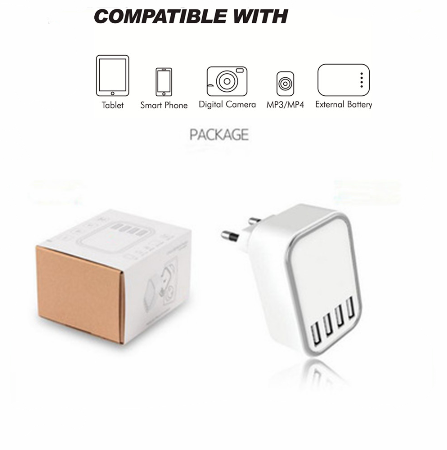 Cell Phone Accessories 4 USB Port Wall Charger KC And SAA Certified AC AU USB Wall Charger