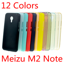 For Meizu M2 Note Clear Case (A7000) Ultra Slim Fit 0.5mm Flexible Transparent TPU Skin Phone Cover Clear/Gray/Blue/Pink/Gold
