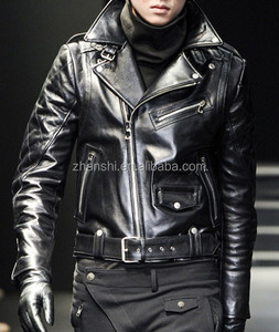 Italy Style High Quality Mens Latest Fashion Biker Leather Jacket