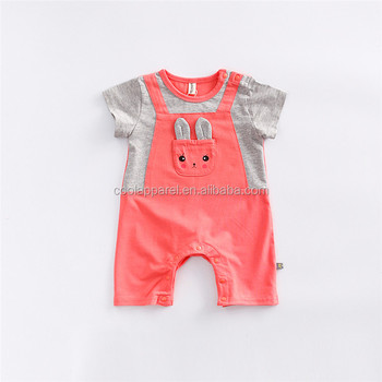 Hot Sale Short Sleeve Kids Romper Sets 100 Cotton Baby Boy Clothes