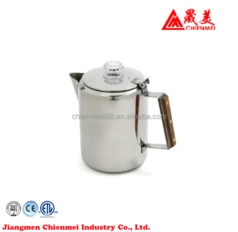 9-Cup Stainless Steel Stovetop Percolator Camping equipment making camping cookware percolator coffee