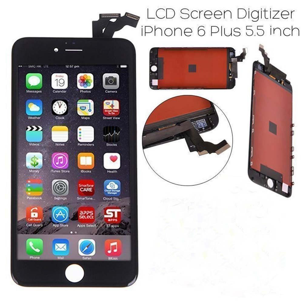 Global-Supplier Replacement LCD Display Touch Screen Digitizer Assembly for iPhone 6 Plus 5.5 inch (black)