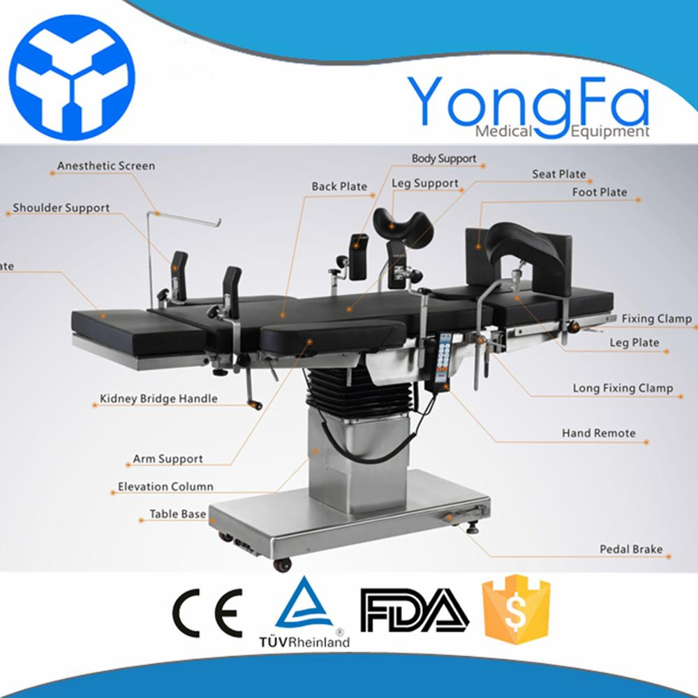 YFDT-PY03 Stainless Steel  Gynecology Operation Theatre Bed