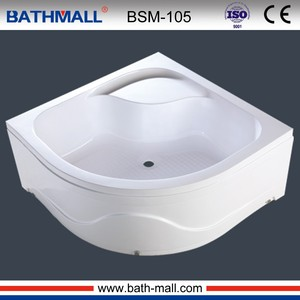 High seat acrylic deep shower basin with ABS panel for export