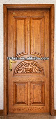Venta caliente de madera de teca maciza puerta principal for Door design narra