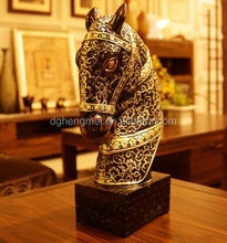 resin horse sculpture for hotel decor