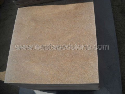 hard yellow sandstone patio paver stone