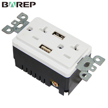 Tamper resistant outlet plugs two gang hdmi wall socket with usb charger