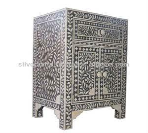 Indian U0026 Moroccan Style Camel Bone Inlay Side Board Cabinet Furniture (Bone  U0026 Mother Of
