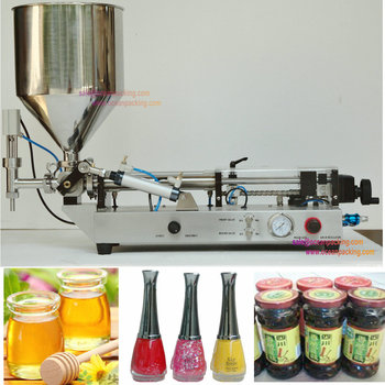 small size nail polish filling machine with hopper