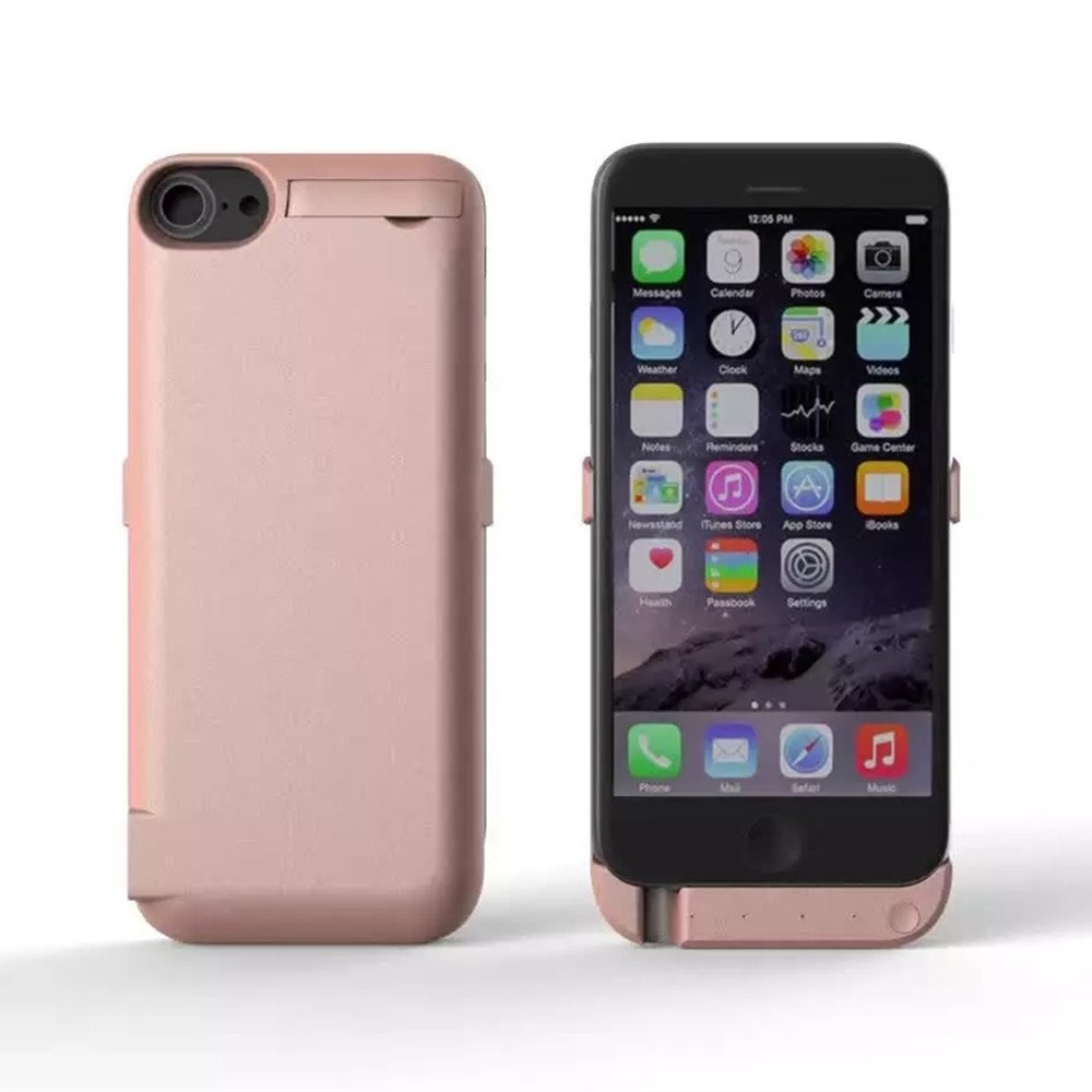 5000mAh iPhone7 Battery Case, MinzyCase Ultra Thin Type Standby Switch Lighting Charging BUILT-IN Battery Full Power Bank Protection Back Case for iPhone7 (Rose Gold, 4.7inchs)