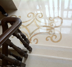 Stairs simple curve crave pattern floor tile design