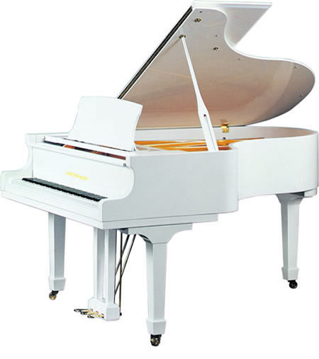 B b piano queue blanc gp148 piano id de produit for Piano blanc a queue