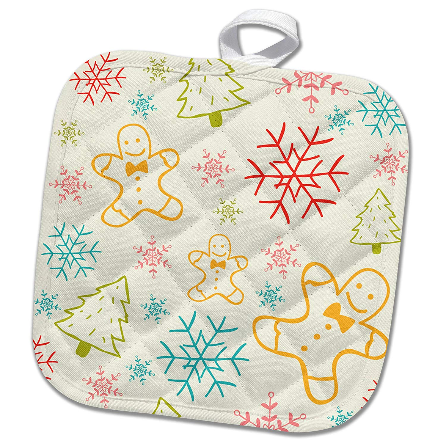 3993eabf8502 Buy 3dRose Anne Marie Baugh - Christmas - Cute Christmas Floral and ...