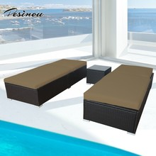 outdoor rattan furniture new design elegant day bed luxury sun lounger