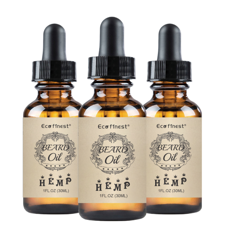 ECO finest Pure Hemp Beard Oil - Infused with Full Spectrum Hemp Extract - Leaving Beards Soft