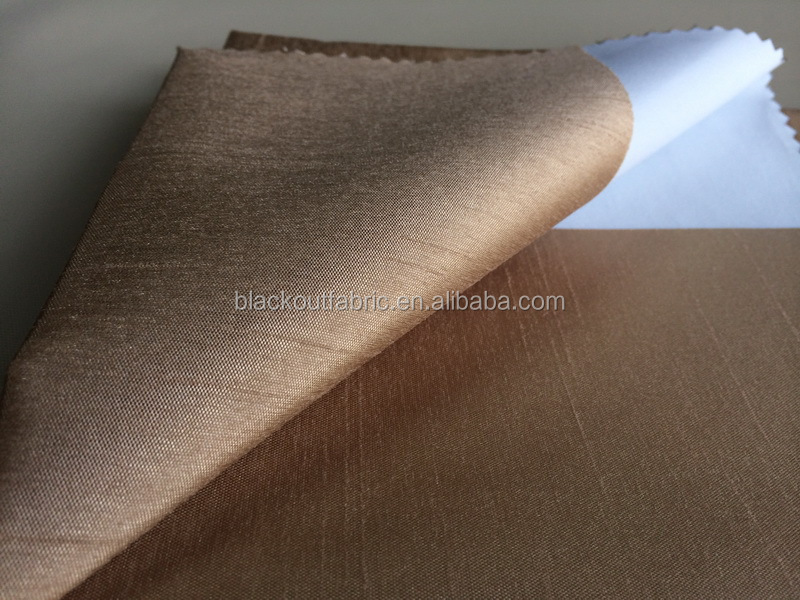 Shantung Blackout Fabric in FR BS5867