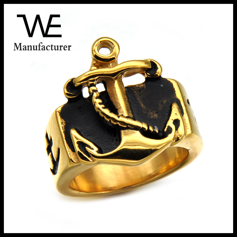 Wholesale Yiwu Factory News 2017 Hip Hop Mens Jesus Gold Stainless Steel Cross Ring