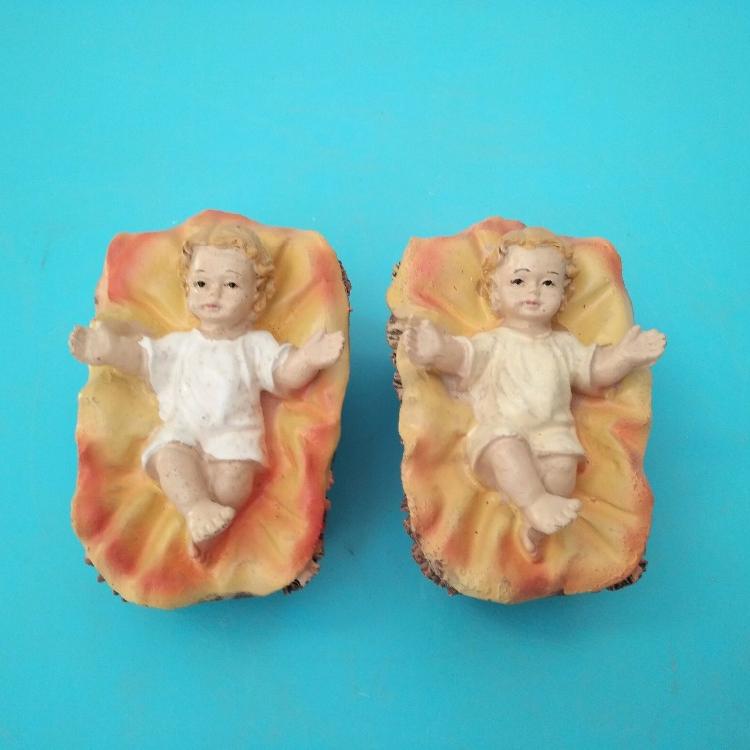 Cena da natividade jesus estatueta de resina do bebê